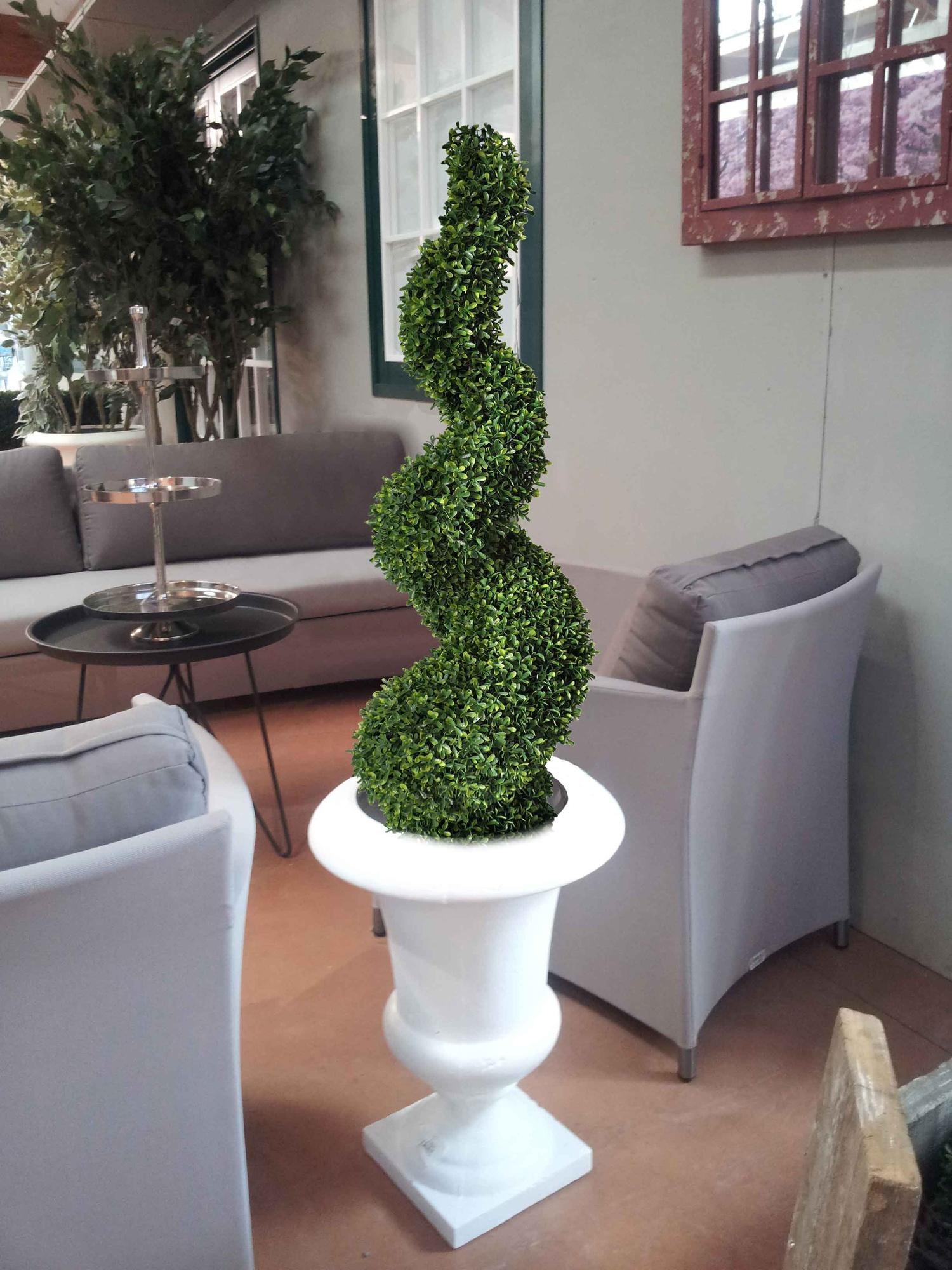Piante Artificiali Da Esterno : Spirale di buxus piante artificiali da esterno interno